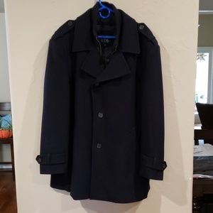Jos A Bank Navy Wool Pea Coat